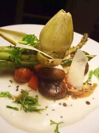 legumes com molho de rábano e ruirbarbo