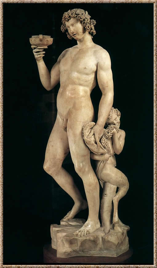 Bacchus, 1497 (Mármol, altura: 203 cm)